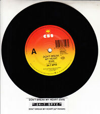 "24-7 SPYZ  Don't Break My Heart 7"" 45 rpm vinyl record NEW + jukebox title strip"