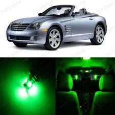 10 x Green LED Interior Light Package For 2004 - 2008 Chrysler Crossfire + TOOL