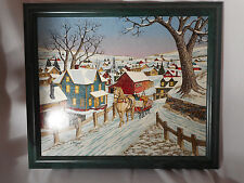 """H. HARGROVE 1996 LIMITED EDITION """"THE SLEIGH RIDE"""" SIGNED 451/750 IN FRAME & COA"""