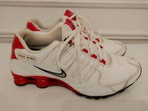 Nike Shox NZ 378341110 White/ Red Size 10.5