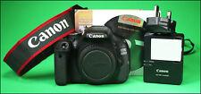 Canon EOS 600D DSLR Camera con batteria, caricabatterie, software e solo 1,360 scatti