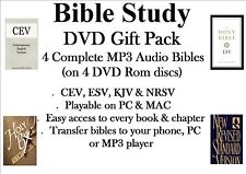 Bible Study Gift Pack - CEV+ESV+KJV+NRSV MP3 Audio Bibles (DVD Rom): Only £8.99!
