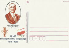 Poland postcard KRAKOW - sport 80 years Polish Olympic Committee