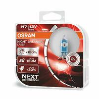 2xOSRAM NIGHT BREAKER LASER H7 150%  12V 55W Halogen-Scheinwerferlampe
