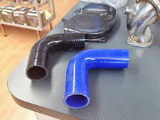 90 Degree Silicone Hose BLACK 63mm (2.5 Inch) Intercooler Turbo