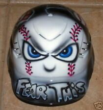 BATTING HELMET AIRBRUSHED SUPER COOL !! NEW W/ NAME