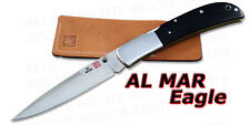 Al Mar EAGLE TALON Black Micarta Folder + Pouch 1005BMT
