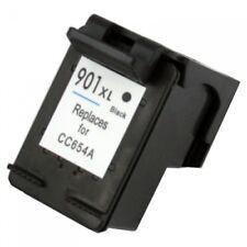 22ml HP 901XL Black CC654A  Large sponge Reman Ink Cart 50% More Ink