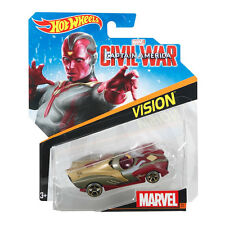 HOT WHEELS MARVEL personaggio auto GUERRA CIVILE 1:64 SCALA Diecast Veicolo: #31 Vision