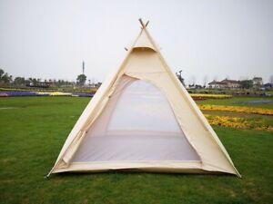 Pyramid Tent Glamping Canvas Waterproof Yurt Safari Camping Teepee Tipi Bell