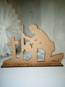 Standing Figure Fallen Soldier craft blanks lest we forget