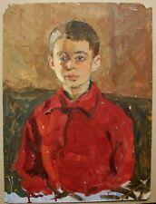 Russian Ukrainian Soviet Oil Painting realism portrait child boy impressionism