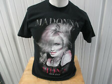 VINTAGE MADONNA THE MDNA TOUR 2012 US DATES MEDIUM BLACK SHIRT PREOWNED