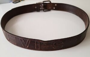 100% Genuine Levi's Mens Casual Leather Double Prong Belt, Rare U.S.A. Size 40