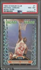 1992-93 Topps Stadium Club Beam Team #1 Michael Jordan Bulls HOF PSA 8 NM-MT