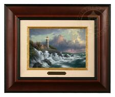 Thomas Kinkade Conquering the Storms - Brushwork (Burl Frame)