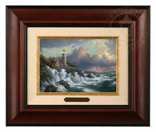 Thomas Kinkade Conquering the Storms 5 x 7 Framed Brushwork (Burl Frame)