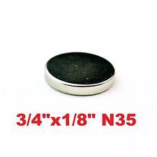 "50 Pack - Neodymium Rare Earth Magnets 3/4""x1/8"""
