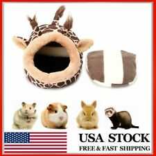 Mini Small Animal Hamster Rat Totoro Squirrel Nest Cage Bed Giraffe Shaped Pad
