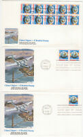 SSS: 3 pcs  US Fleetwood FDC 1988 25c China Clipper E Booklet  BK10  Sc #2282
