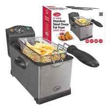 3Lt Deep Fat Chips Fryer Basket Oil Fried Fish Nuggets Fry Food Kitchen Cook Pan