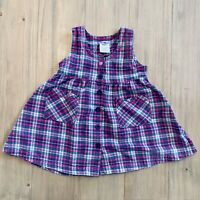 OshKosh B'gosh Vintage Pink & Teal Plaid Button Up Sleeveless Dress Size 3T