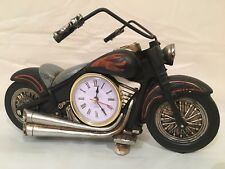 Flame Painted Motorcycle Man Cave Garage Mantel Decor Clock