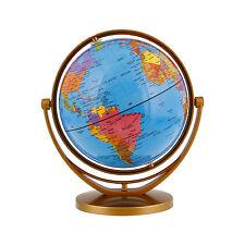 """6"""" Inch (14.2cm) Blue Ocean Rotating Swivel and Tilt Desktop World Earth Globe"""