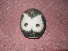 vintage briglin england  bank. owl shaped. 4 inch tall, 3 in.round. no crack/chi