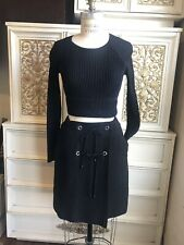CHANEL WRAP BLACK SKIRT SIZE 34 XS MADE IN FRANCE