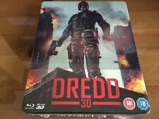DREDD 2D/3D EXCLUSIVE Limited Edition Blu-Ray Steelbook + KEYRING *BRAND NEW*
