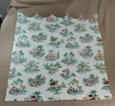 Vintage Curtain 22� x 33� Country Scenes