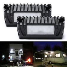 Pair 12V Led Exterior Porch Utility Light Awning Lamps Fit Rv Trailer Boat Truck