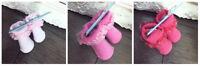 Baby Kids Girl White Pink Peach Cream Lace Frilly Socks bundle SKFA/BABY