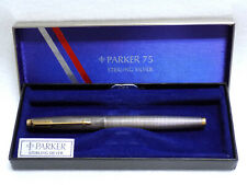 Original Parker 75 Sterling Silver Fountain Pen - Made in USA - 14kt Gold Point