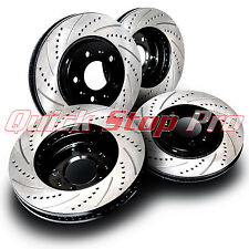 LEX007S4 GS350 IS350 4WD High Performance Brake Rotors Cross Drill + Curve Slots
