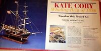 KATE CORY Whaling Brig of 1856, Model Wooden Ship Kit - Very Rare