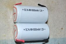 GENERIC NEW NIMH SUB-C RECHARGEABLE BATTERY/CELL 6000 mah 1.2 volt PAIR