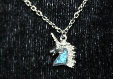 Silver Unicorn Horse Necklace w/ Turquoise?