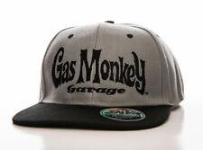 Official Gas Monkey Garage GMG Logo Grey Snapback Baseball Cap