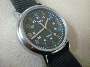 Women's Timex Indiglo Silver and Multi-Coloured WR Watch - with Night Light