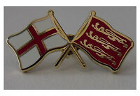 St George and Three Lions England crossed flag enamel pin badge