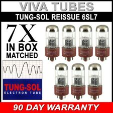 Brand New Tung-Sol Reissue 6SL7 GAIN MATCHED Septet (7) Vacuum Tubes In Box