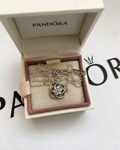 Pandora Silver Rose Petals Collier Necklace 45cm (ALE S925)