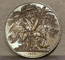 1854 GB ROYAL BOTANIC SOCIETY OF LONDON Bronze 51mm B. Wyon to M Van Houtte