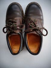 Dr Doc Martens 5 Eye Leather Oxford Brown ~ Size UK 4 USA 6 ~ Made in England