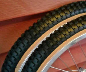 20x1.75 Black Comp 2 Style skinwall BMX tires pair