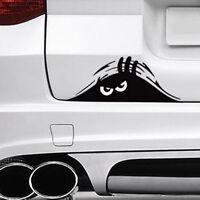 1PC Cute Peeking Eyes Funny JDM Car Bumper Window Vinyl Decal Sticker Black
