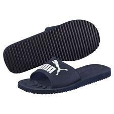 Puma Purecat Slide Sandals Flip Flops Sports Adults Unisex Beach Navy White a4c524a8e