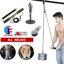 Fitness Pulley Cable Machine Biceps Triceps Blaster Hand Strength Exercise GYM